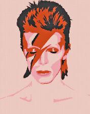 Ziggy Stardust David Bowie DIGITAL Cross-Stitch Pattern Needlepoint Chart