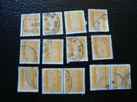 NOUVELLE CALEDONIE timbre yt service n° 1 x13 obl (A4) stamp new caledonia