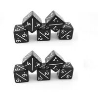 10x Negative Dice Counters Black -1/-1 for Magic: The Gathering  / CCG MTG