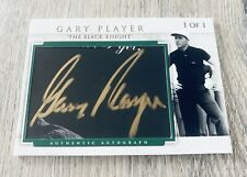 GARY PLAYER BLACK KNIGHT MASTERS SIGNED CUSTOM CUT AUTO RARE SIGNED CARD #1/1