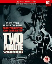 TWO MINUTE WARNING Charlton Heston John Cassavetes BLURAY+DVD in Inglese NEW .cp