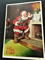 Lot of 3 Coca Cola Ads Christmas Santa Claus Coke Vintage