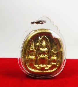 Gold LEKLAI Phra YOD KHUN PON  VICTORY THAI Powerful Magic AMULET Warlord Win