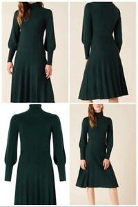 Monsoon - Pointelle Yoke Knit Dress - Green - Size 12 or 14 (Brand New With Tag)