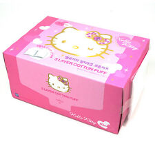 Hello Kitty 5 Layer Cotton Pad 80 Count White  Makeup Remover Skin Care HK011