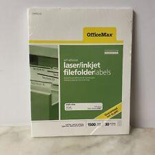 File Folder Labels Laser Inkjet Printers Cut White Office School Supply OM96336