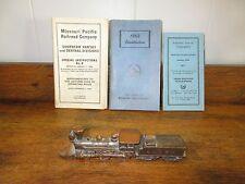 Vintage Pot Metal V&T Rail Road Reno/Train Engine/Car & (3) R.R. Manuals