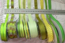 YELLOW & GREEN Mix Tones 12-24mm Wide 2 & 3 Metres 9 Design Styles Choice