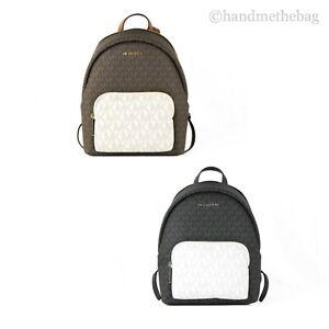Michael Kors Erin Medium Signature PVC Colorblock Pocket Backpack Bag Bookbag