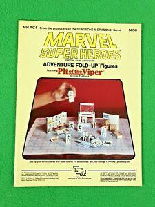 Marvel Super Heroes - ADVENTURE FOLD-UP FIGS - MHAC-4 - TSR 6858 - 1984 - Unused