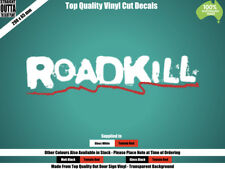 ROADKILL DECAL - OLD SCHOOL HOT ROD - RED & WHITE