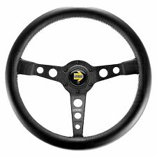 MOMO Prototipo Steering Wheel - Leather - Black Spokes - 350mm