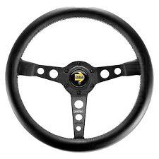 MOMO Prototipo Steering Wheel - Leather - Black Spokes - 350mm