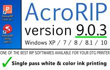AcroRIP v 9.0.3 2020 DTG & UV Printer Acro RIP printing software Epson P800 P600