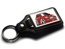 Koolart Cartoon Car Toyota Starlet GT Leather and Chrome Keyring