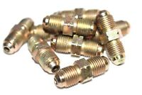 """Brake Pipe 2 Way Male Tube Connectors Qty 10 PK M10 10mm 3/16"""" Copper Pipe BPN22"""