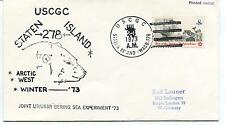 1973 USCGC Staten Island WAGB-278 Arctic Winter USSR Bering Sea Experiment Cover