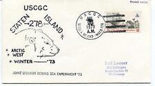 1973 USCGC Staten Island WAGB-278 Arctic Winter USSR Bering Sea Experiment Cover
