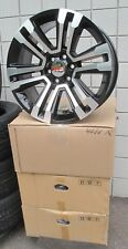 "22"" GMC YUKON SIERRA SUV FACTORY STYLE MACHINED BLACK 4 NEW WHEELS 4741A R F"