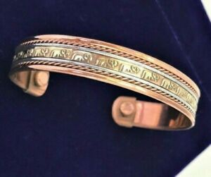 COPPER BRACELET ARTHRITIS / RHEUMATISM BANGLE BIO PAIN RELIEF MAGNETIC UNISEX