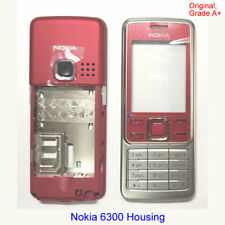 100% Genuine Original Nokia 6300 Front + Middle + Keypad fascia housing - Red