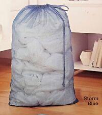 "Whitmor Classic Style Mesh Laundry Hamper 24"" x 36"" Storm Blue Color B353"