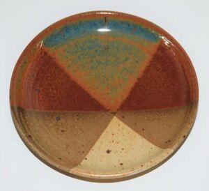 "HANSELMANN STUDIO POTTERY 7"" PLATE DISH BOWL New Mexico HAND THROWN STONEWARE"