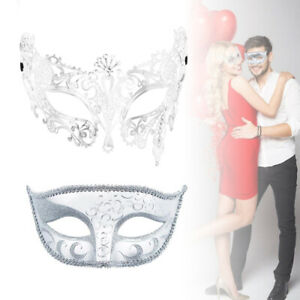 2pcs/lot Halloween Masquerade Masks Ball Costume Party Mask for Couples Lovers