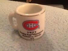 NHL STANLEY CUP CRAZY MINI MUG MONTREAL CANADIANS 1971 CHAMPS W/OPPONENT &SCORE