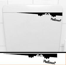 WC Spülkasten Aufkleber + HALLOOO ?! + Klo Toiletten Sitz Deko Sticker 207