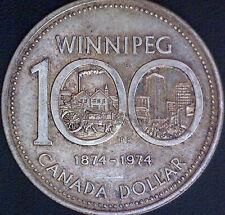 1974 (1874) Canadian $1 Winnipeg Centennial Silver Dollar Coin