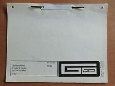 ORIG. Ersatzteilliste GUTBROD Schneefräse für Superior 1032 1050 + D 2060 1970