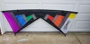 Revolution N.Y.M. Custom Surf City Special - Double Vent- BLK Rainbow Kite Only