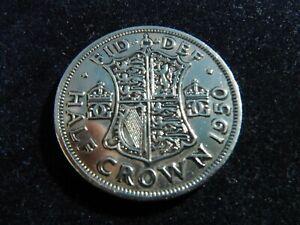 GEORGE VI HALF CROWN COIN SCARCE 1950 RARE DATE-88-