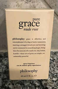 "PHILOSOPHY ""Pure Grace Nude Rose"" 2 fl.oz/60 mL Eau De Toilette Spray NEW"