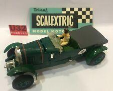 Scalextric C64 Bentley 4/12 Litres #7 Vert pour Restauration