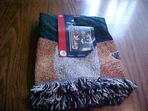 2007 Green Bay Packers Brett Favre 60x48 Blanket Throw Never Used Tags