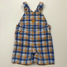 Janie And Jack At The Cape Plaid Short Overalls Size 12-18 Months