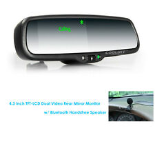 For iPhone 7 Plus 6 S Bluetooth Handsfree 4.3'' LCD Car Rear View Mirror Monitor