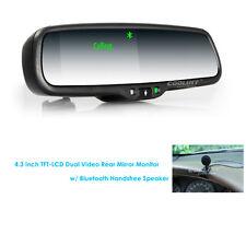 "Para iPhone 7 Plus 6 S Bluetooth manos libres 4.3"" LCD monitor del espejo retrovisor coche"