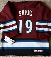 New With Tags Joe Sakic Alternate Colorado Avalanche Youth Jersey +FREE Shipping