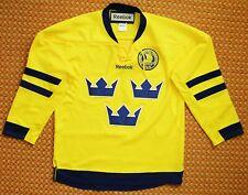 Sweden, Sverige, Home Yellow Shirt by Reebok, Mens Small, Sewn