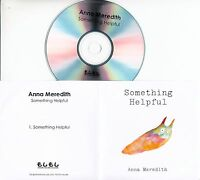 ANNA MEREDITH Something Helpful 2016 UK 1-trk promo test CD