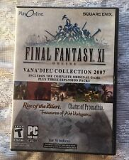 Final Fantasy XI Online: The Vana'diel Collection 2007 (PC, 2005) computer game