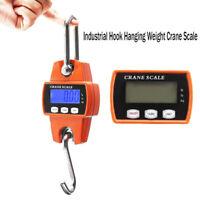 Mini Crane Scale 300KG/660LBS Industrial Hook Hanging Weight Digital LCD Disp SE