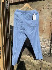 asos mens Light Blue Cotton/Linen trousers W38 L32 BNWT