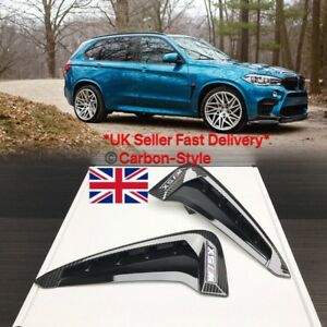 X5M Carbon Fiber Side Fender Vent Cover for BMW F15 X5 F85 X5M SUV 2014+