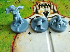 Blood Bowl Stone Troll Markers (Proned/Stunned/Stupid)