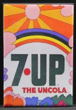 "7-Up The Uncola 2"" X 3"" Fridge / Locker Magnet. Vintage Advertising"