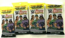 2018 TOPPS WWE  HERITAGE  FAT  PACKS ( 4 PACK LOT )